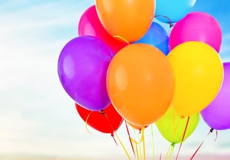 colourful sky: Balloons.