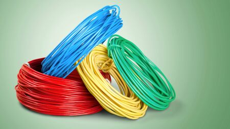 descriptive colors: Cables. Stock Photo