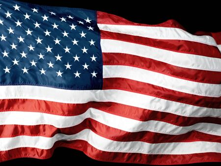 banderas america: Bandera estadounidense. Foto de archivo