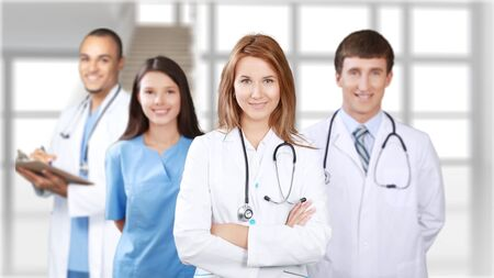 physiotherapists: Medical team. Stock Photo