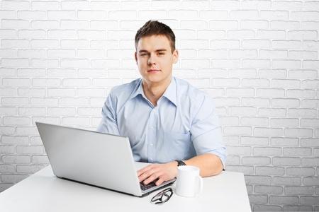 freelancer: Using laptop.