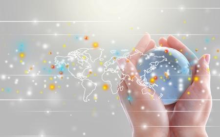 Connexion réseau. Banque d'images