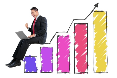 increment: Business rise. Stock Photo