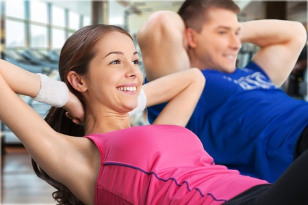 affectionate action: Exercising. Stock Photo