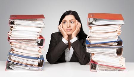 personas trabajando: Estrés.