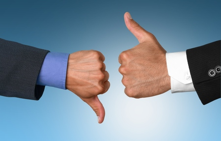 thumbs up business: Thumbs Up and Thumbs Down.