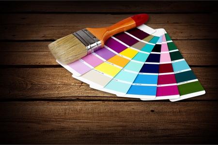 red paint roller: Paint Colors.