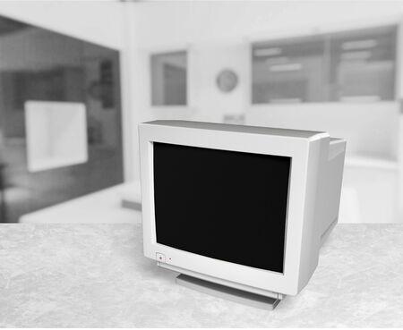 comp: Computer Monitor. Stock Photo