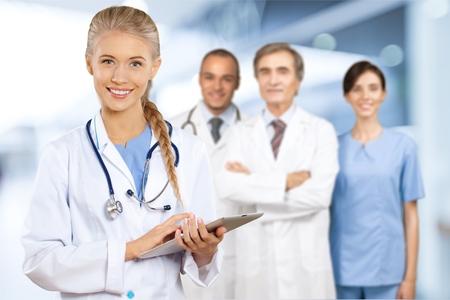 medical occupation: Doctors. Stock Photo