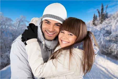 couple winter: Winter Couple. Stock Photo