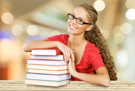 only adult: Student. Stock Photo