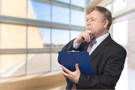coworker: Businessman. Stock Photo