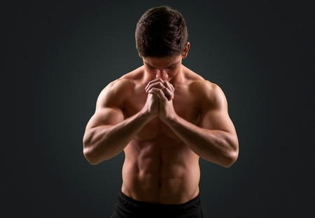 men exercising: Hombres Ejercicio.
