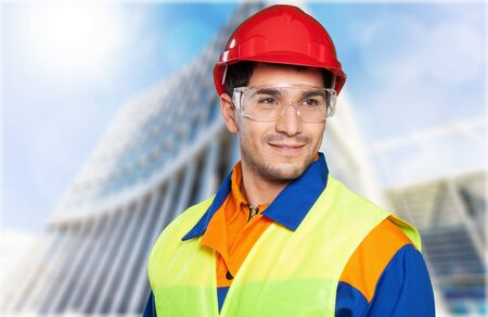 construction worker: Manual Worker. Stock Photo