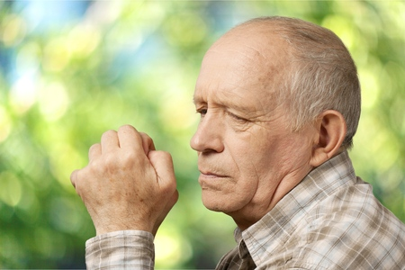 old man on a physical pressure: Senior Adult.
