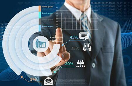 push people: Internet Technology. Stock Photo