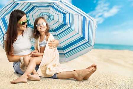 child protection: Sunscreen. Stock Photo