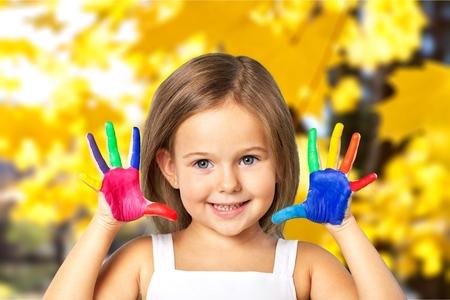 preschool children: Kid paintings.