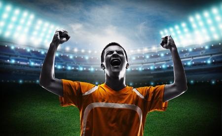 triumphant: Soccer triumphant.