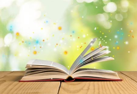 Book open.