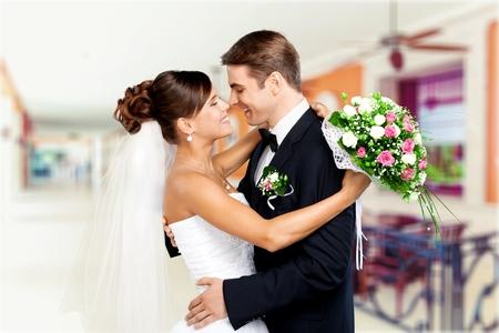newlywed couple: Wedding.