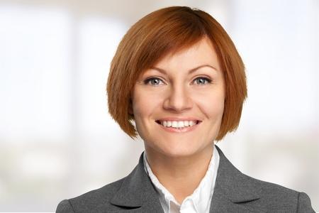 mujer alegre: Mujer de negocios. Foto de archivo
