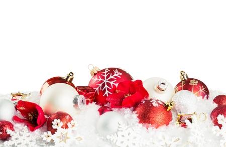 christmas border: Xmas background. Stock Photo