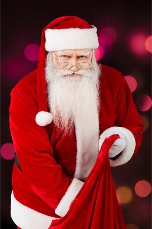 dressing up costume: Santa Claus. Stock Photo