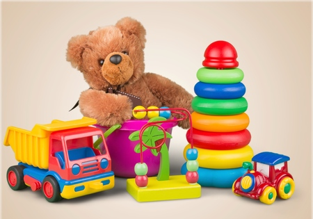 kindergarten toys: Toys. Stock Photo