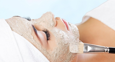 facial: Facial Mask. Stock Photo