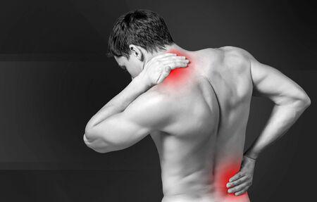 sick person: Pain.