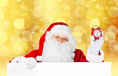12 oclock: Santa Claus. Stock Photo