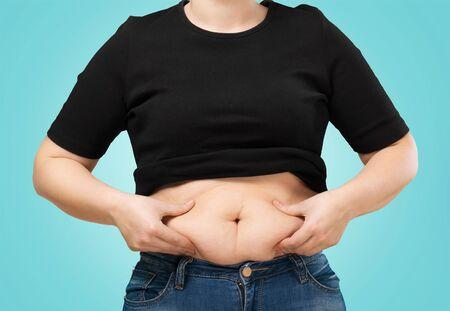 pot belly: Women.