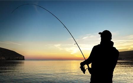 fishing rod: Fishing. Stock Photo