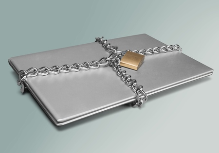 lock and chain: Protection. Stock Photo
