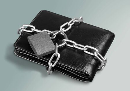 lock: Wallet. Stock Photo
