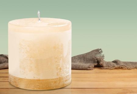 candlelit: Wax. Stock Photo