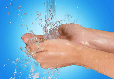 lavage mains: Washing Hands. Banque d'images