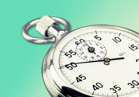 chromium plated: Stopwatch. Stock Photo