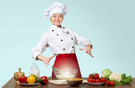 enchantment: Cooking. Stock Photo
