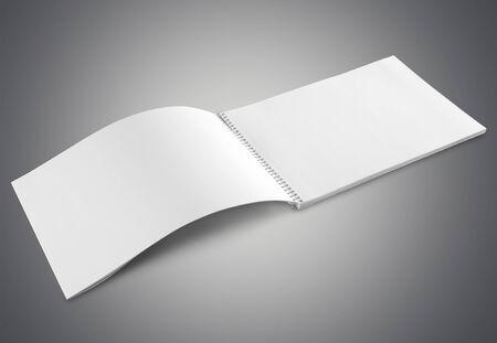 marca libros: Maqueta en blanco.