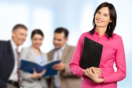 office worker: Businesswoman. Stock Photo