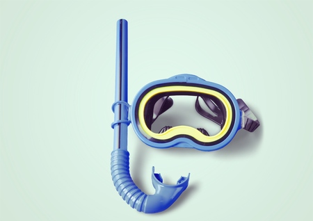 diving equipment: Snorkel. Stock Photo