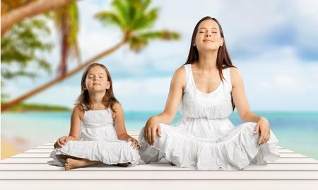 mam: Yoga. Stock Photo