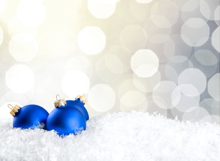 christmas fun: Blue balls.