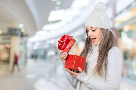 surprise box: Gift. Stock Photo