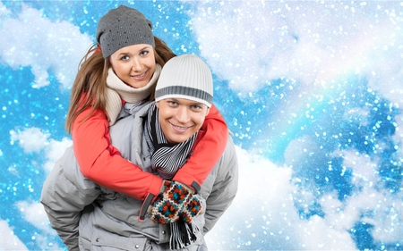 winter couple: Winter Couple. Stock Photo
