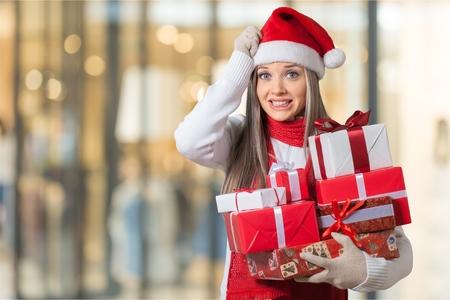 stress woman: Christmas.