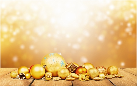 christmas gift box: Gold.