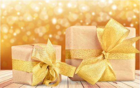 christmas gift box: Gift. Stock Photo